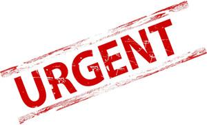 Grunge Urgent Stamp