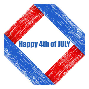 Grunge Us 4th Of July Independence Day Vector Design