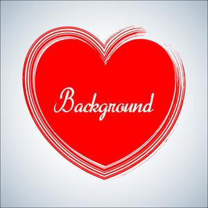 Grunge Valentine Heart Banner