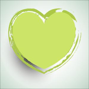 Grunge Valentine Heart Vector