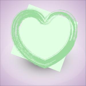 Grunge Valentine Love Heart Banner