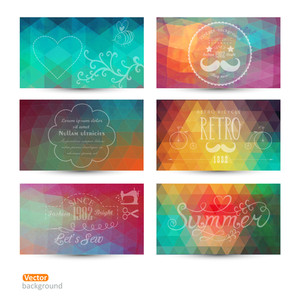 Grunge Vector Banner. Abstract Header Vector Background Set. Triangle Seamless Banners. Retro Label Design. Geometric Shapes. You Can Place Your Message Above Triangles Rectangle. Grunge.