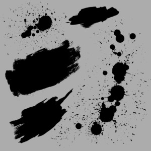 Grunge Vector Stains Designs