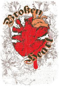Grunge Vector T-shirt Design With Heart