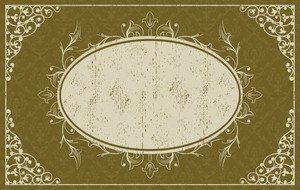 Grunge Vintage Frame Vector Illustration