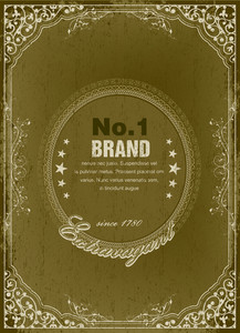 Grunge Vintage Label Vector Illustration