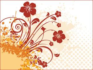 Grunge With Floral Design