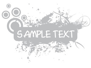 Grunge With Sample Text