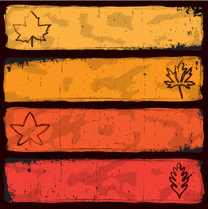 Grungy Autumn Banners