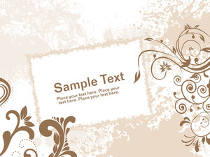 Grungy Background With Floral And Banner