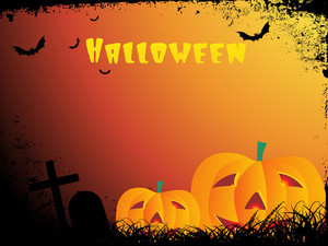 Grungy Border Background For Halloween Celebration