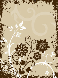 Grungy Border Background With Filigree