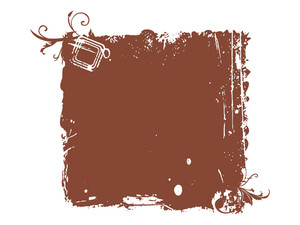 Grungy Brown Frame Illustration