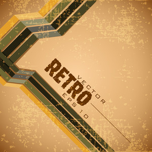 Grungy Brown Retro Background