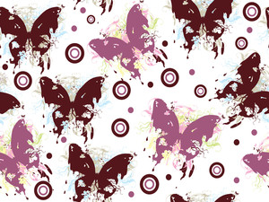 Grungy Butterfly With Background