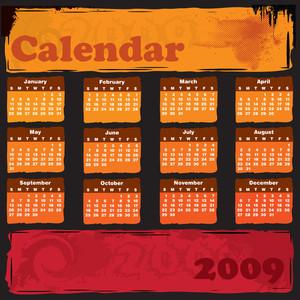 Grungy Calendar