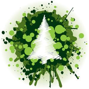 Grungy Christmas Tree