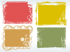 Grungy Colorful Frames With Background