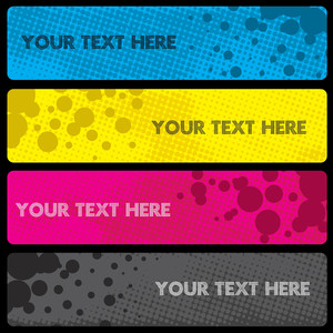 Grungy Dots Banner Set