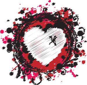 Grungy Emo Heart Design