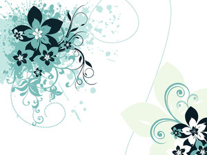 Grungy Floral Background With Artwork