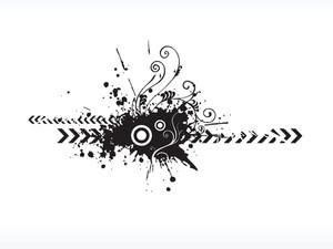 Grungy Floral Logo