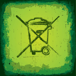 Grungy Green Environmental Symbol