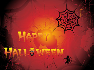 Grungy Happy Halloween Background