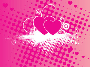 Grungy Macro Background With Pink Heart