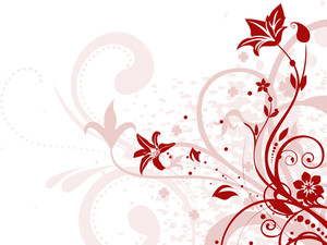 Grungy Maroon Floral Pattern Illustration