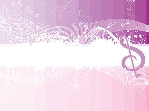 Grungy Musical Note Background With Wave