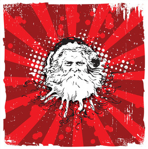 Grungy Old Santa Claus - Christmas Design