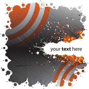 Grungy Orange Design - Rounded Version