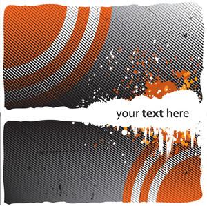 Grungy Orange Design