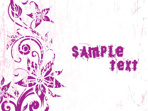Grungy Purple Flower