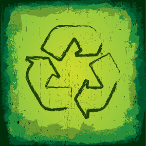 Grungy Recycle Symbol