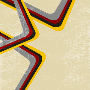 Grungy Retro Background With Colorful Abstract Lines