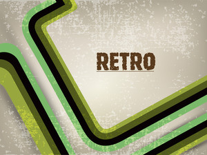 Grungy Retro Background With Creative Lines.