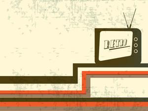 Grungy Retro Background With Retro Radio.