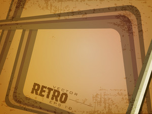 Grungy Retro Background.