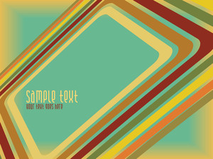 Grungy Retro Banner With Sample Text