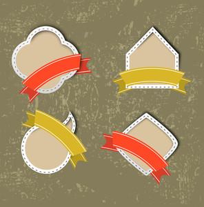 Grungy Retro Concept With Sticker