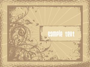 Grungy Swirls Design With Grunge Border