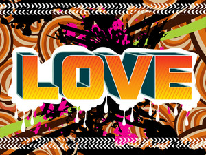 Grungy Texture Background With Love