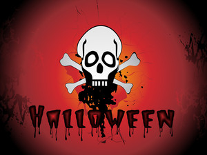 Grungy Texture Background With Skull