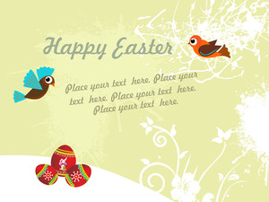 Grungy Texture Easter Day Background