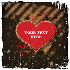 Grungy Valentines Heart Design