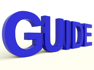 Guide Word As Symbol For Guidance Or Training
