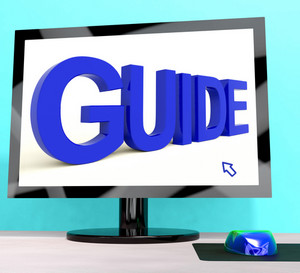 Guide Word On Computer Shows Guidance Or Training