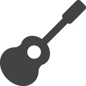 Guitar Glyph Icon
